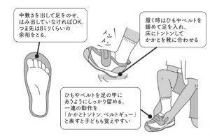 靴選びのイラスト